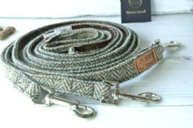 Brown/Olive Harris Tweed Dog Leash